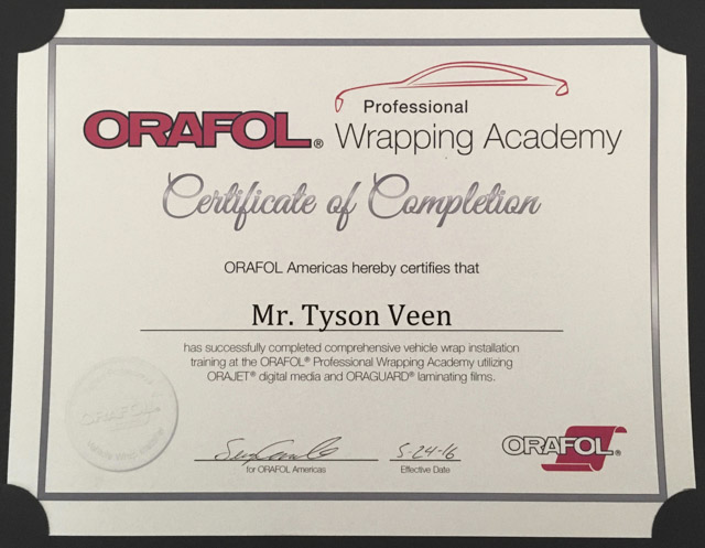 Oral Wrap Certified